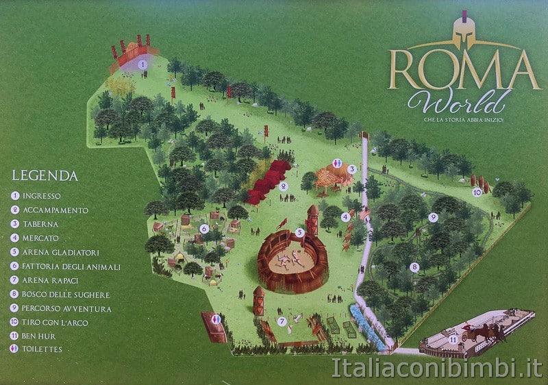 Roma World- mappa del parco