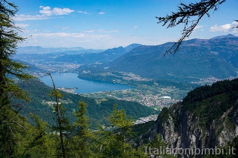 Sentiero il Respiro degli alberi- belvedere sul lago di Caldonazzo
