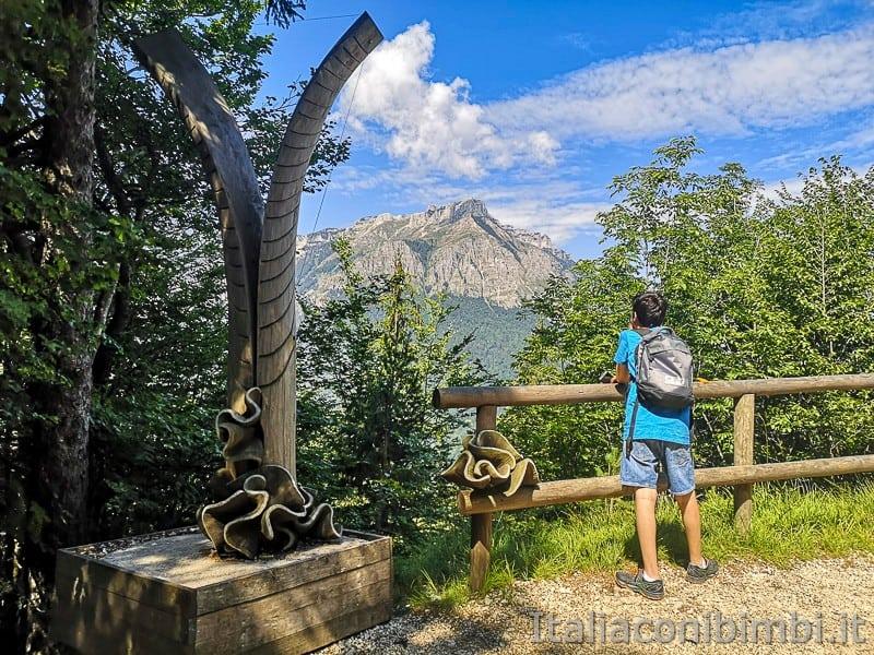 Sentiero il Respiro degli alberi- opera Virtuosa natura