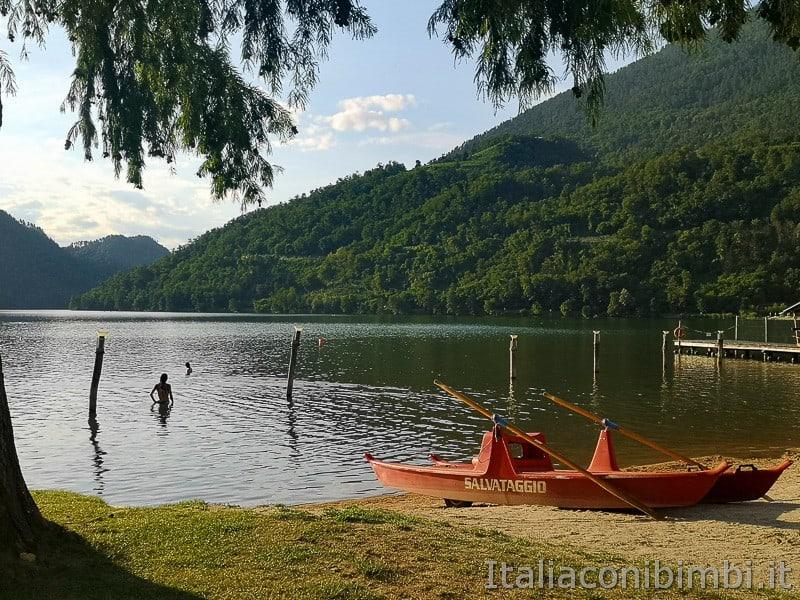 Ciclabile della Valsugana- bagno nel lago di Levico