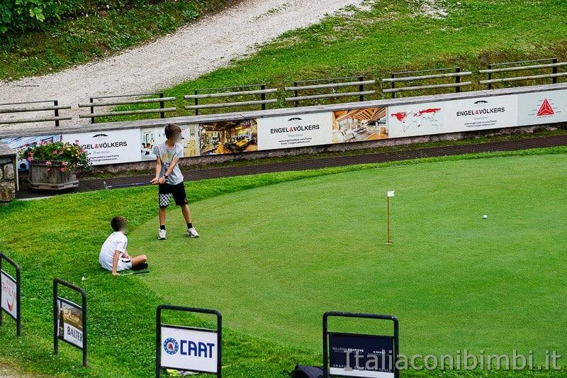 Folgaria- campo per bambini al Golf Club
