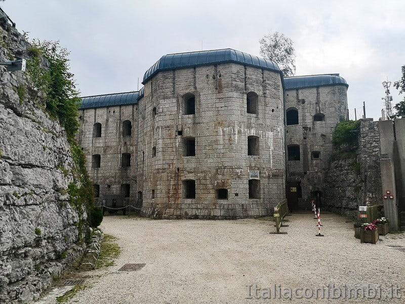 Forte Belvedere di Lavarone- esterno del forte