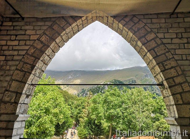 Gole dell'Infernaccio- vista dall'Eremo di San Leonardo sui monti