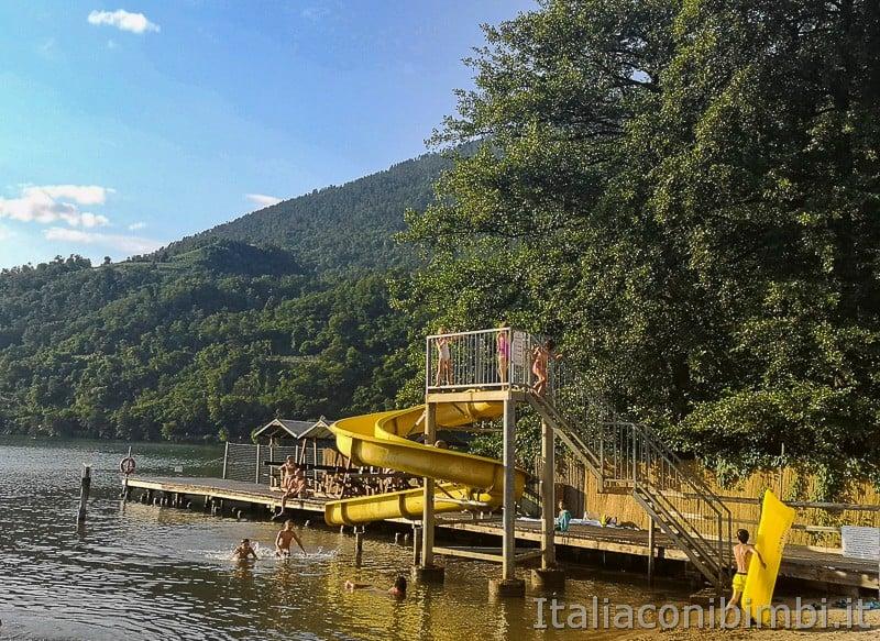Lago di Levico- acquascivolo