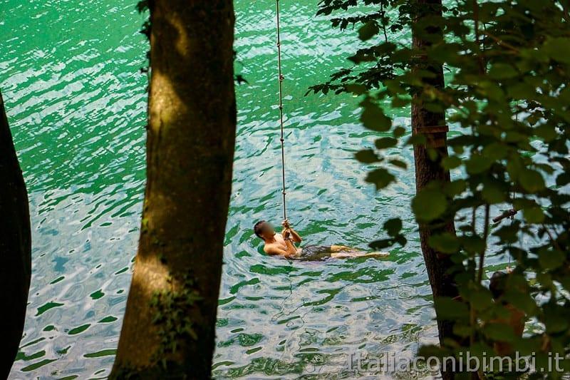 Lago di Levico- bagno nel lago