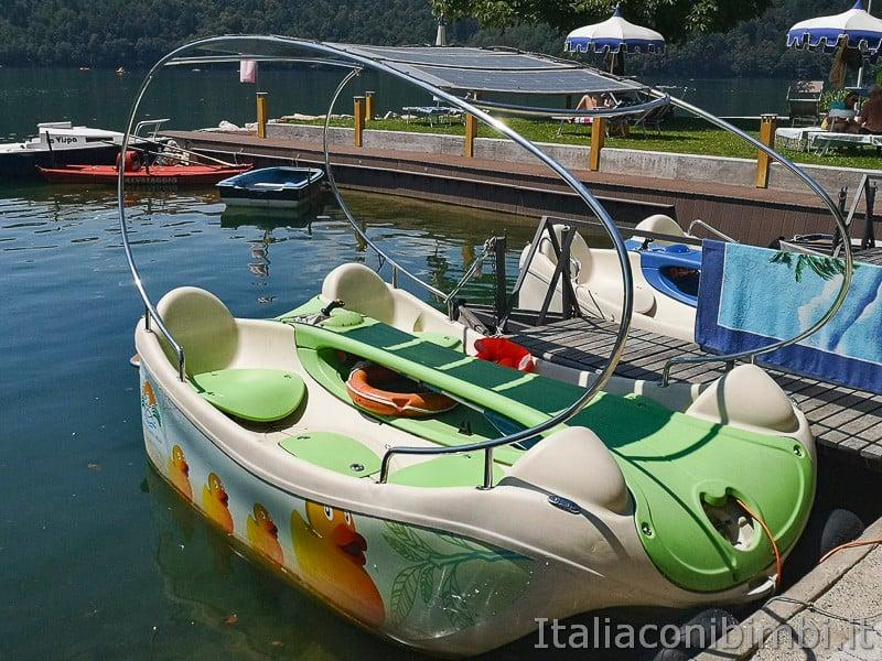 Lago di Levico- barchette a noleggio