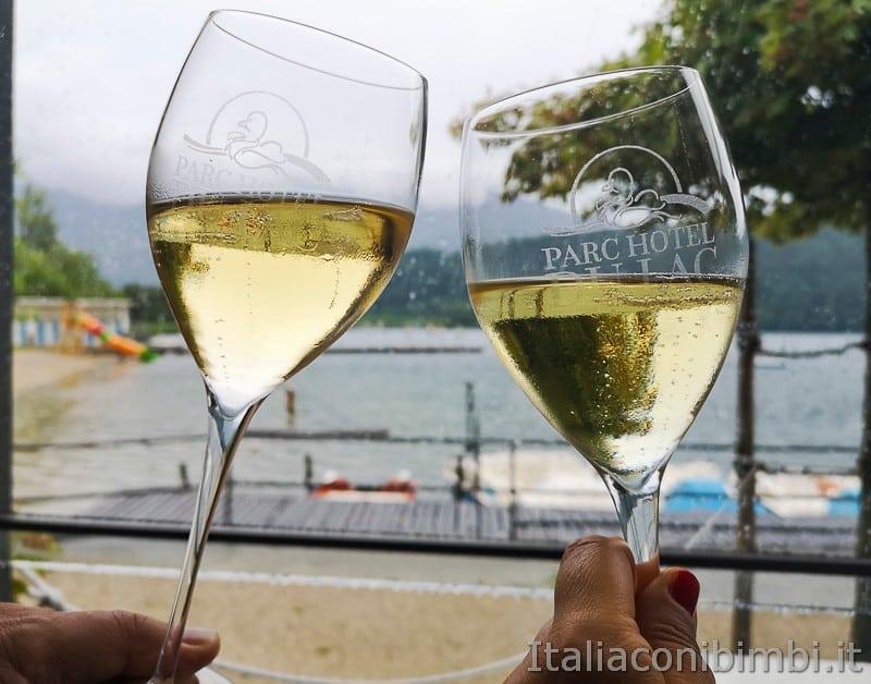 Lago di Levico- brindisi ristorante la Taverna