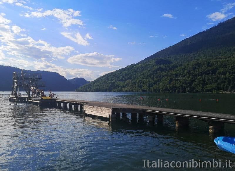 Lago di Levico- passerella per i tuffi