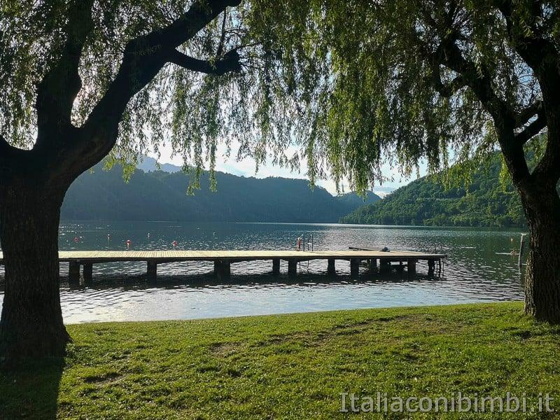 Lago di Levico- passerella