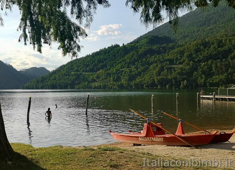 Lago di Levico- pattino salvataggio