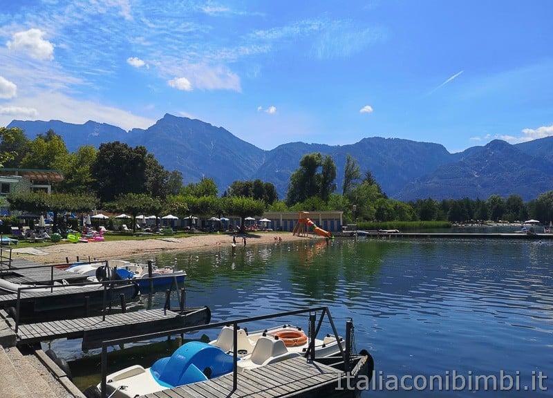 Lago di Levico- spiaggia della Taverna