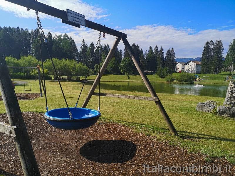 Parco Palù - cesta altalena