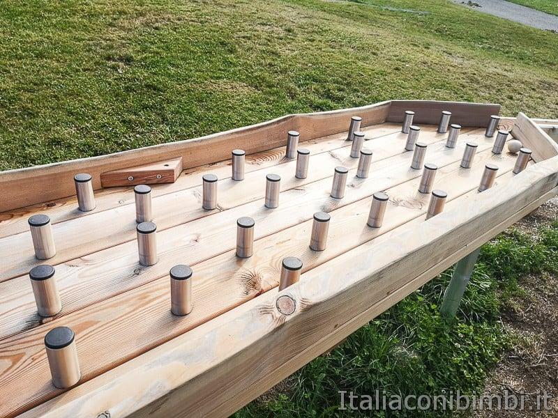 Parco Palù - nuovo gioco con la pallina percorso