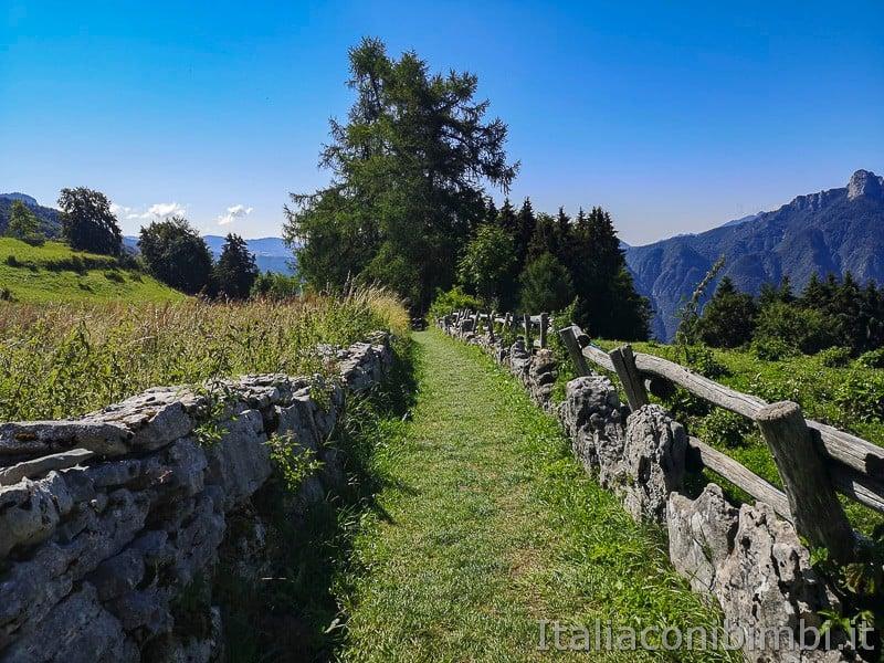 Sentiero dell'Immaginario Alpe Cimbra- inizio del sentiero