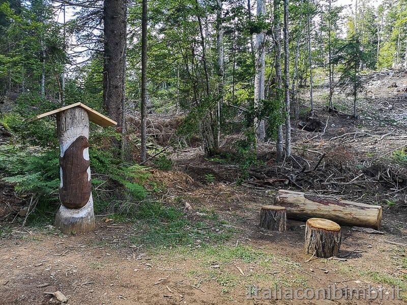 Sentiero delle Sorgenti - Alpe Cimbra- animali in legno