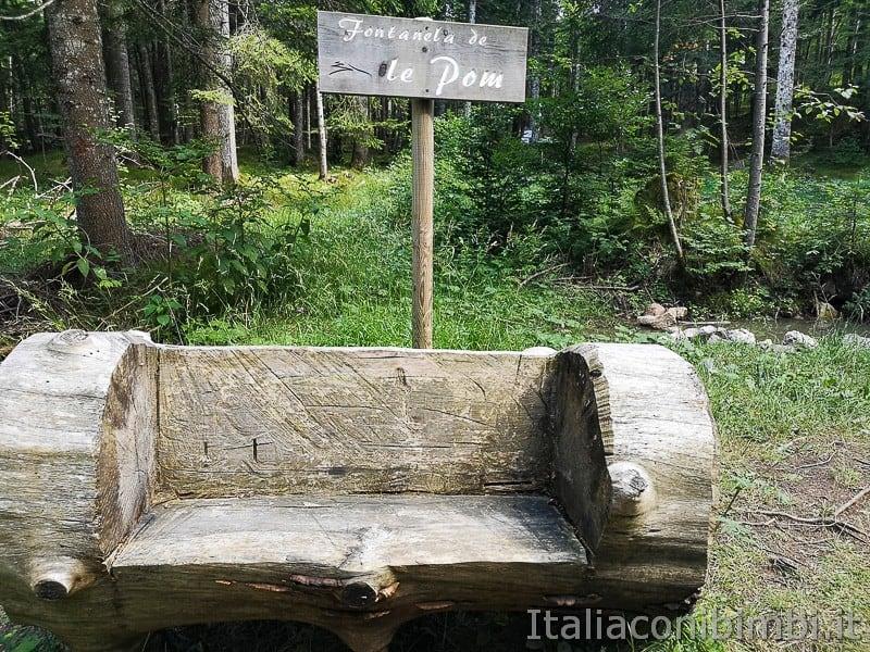 Sentiero delle Sorgenti - Alpe Cimbra- fontanela de le Pom