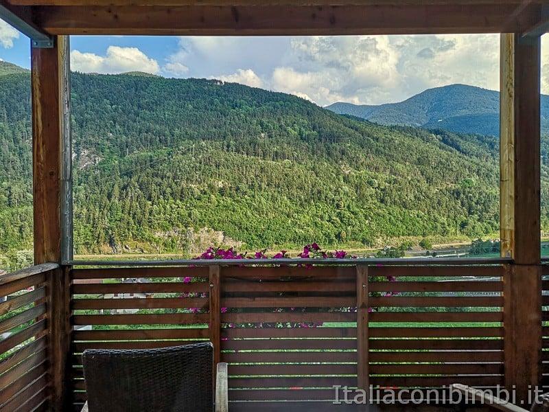 Velturno- vista dal terrazzo appartamenti Toni