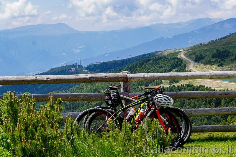 WoodyWalk sulla Plose- biciclette
