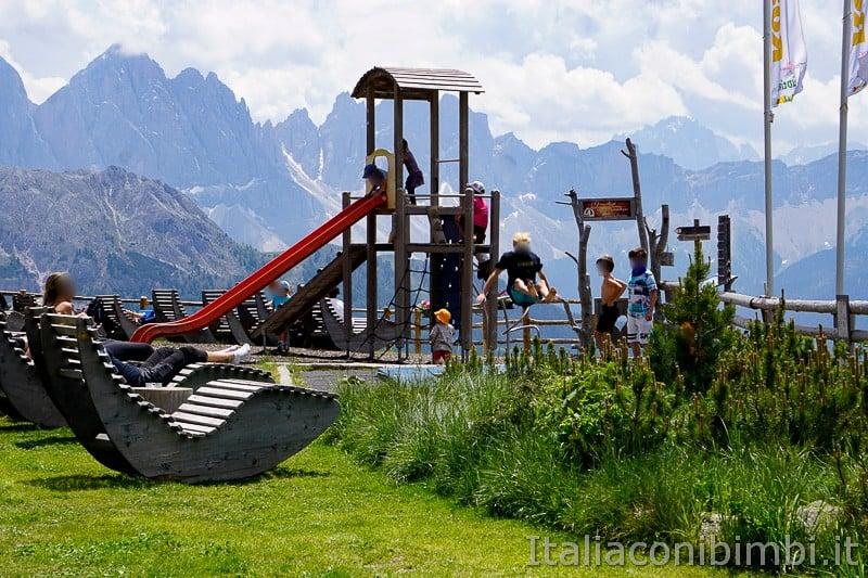 WoodyWalk sulla Plose- giochi al rifugio Rossalm