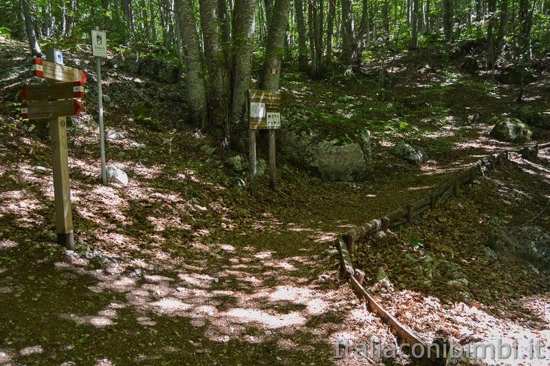 Lama Bianca Majella- sentiero accessibile a fonte Fratta