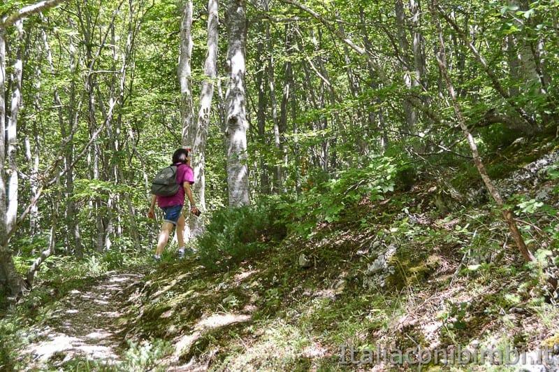 Lama Bianca Majella- sentiero non accessibile salita