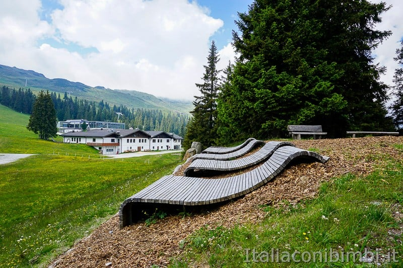 Mondo avventura montagna Racines- postazioni relax