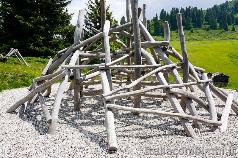 Mondo avventura montagna- formicaio di legno