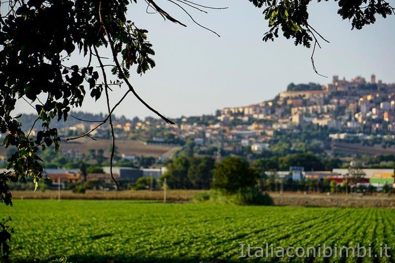 Osimo- dalla ciclabile del Musone