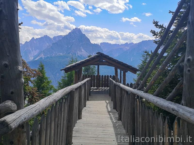 Parco natura Olperl Monte Elmo- accesso alla torretta
