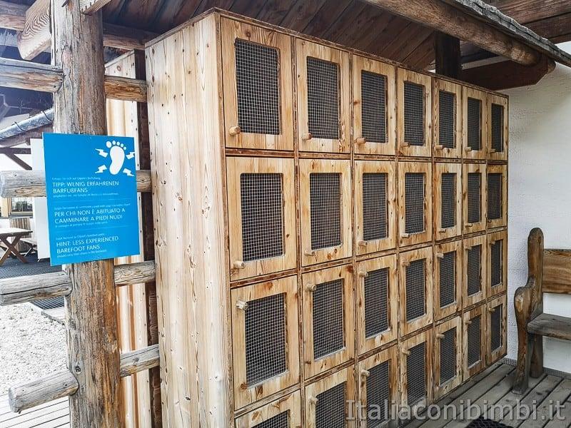 Parco natura Olperl Monte Elmo- armadio per le scarpe