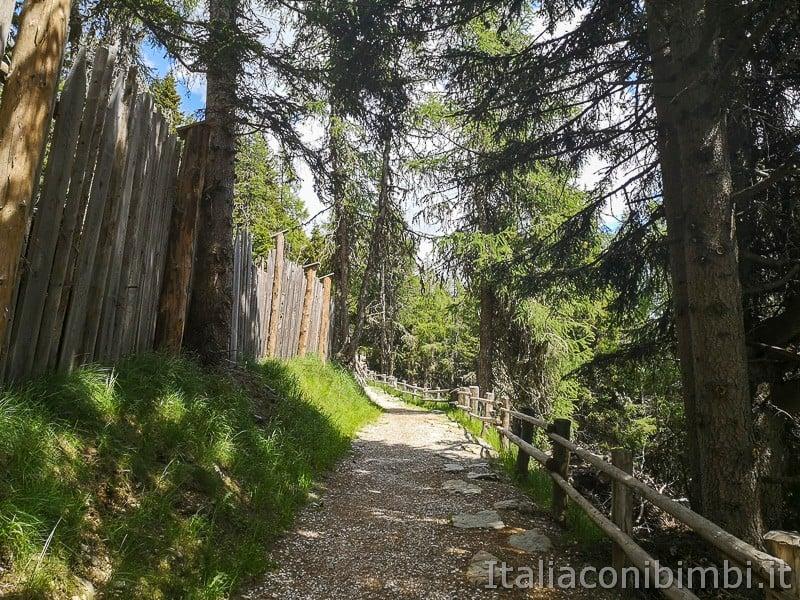 Parco natura Olperl Monte Elmo- inizio del sentiero