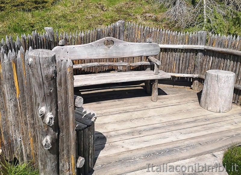 Parco natura Olperl Monte Elmo- panchina