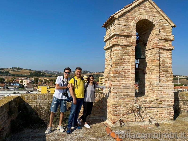 Porto Recanati- noi sulla torre sveva