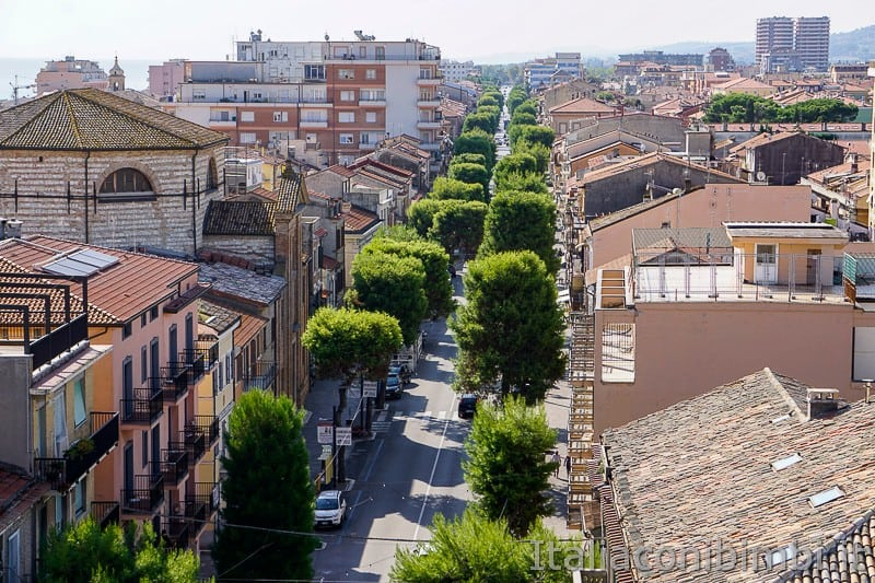 Porto Recanati- vista viali