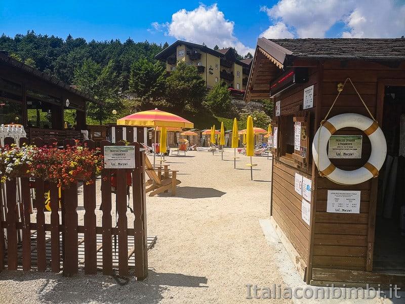 Lago di Lavarone- Lido Marzari ingresso spiaggia