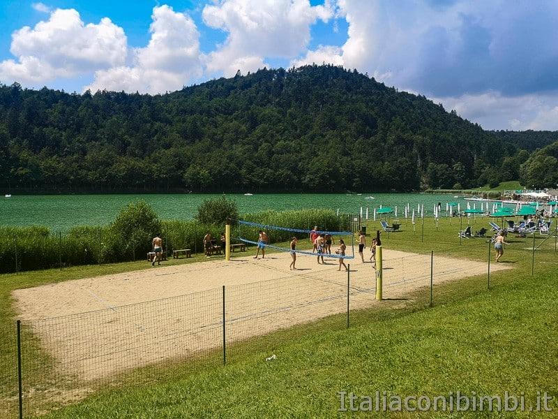 Lago di Lavarone- campo da beach volley