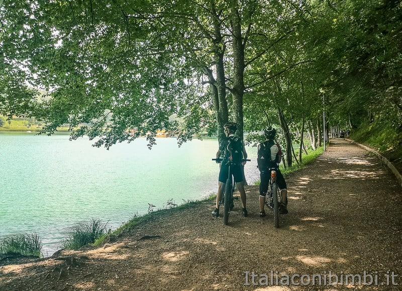 Lago di Lavarone- giro del lago in bicicletta