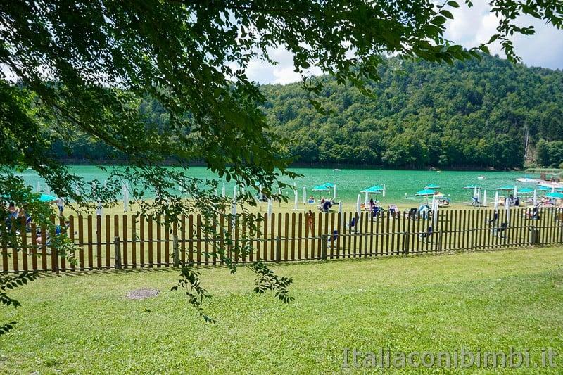 Lago di Lavarone- spiaggia di prato
