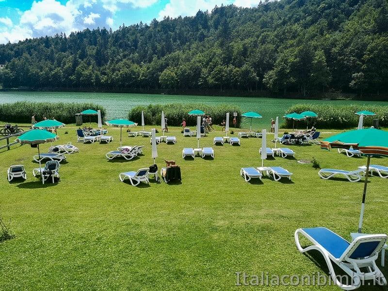 Lago di Lavarone- spiaggia per famiglie