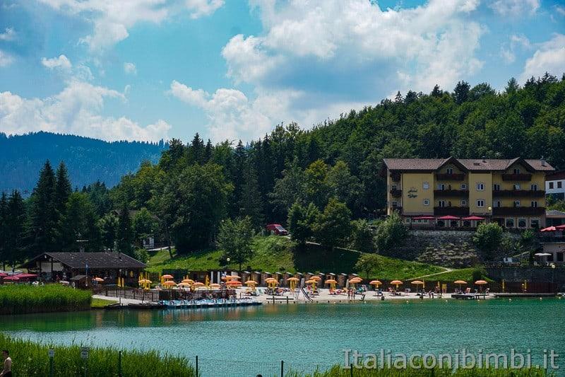 Lago di Lavarone- spiaggia