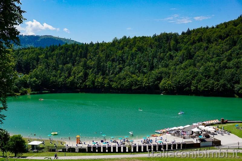 Lago di Lavarone- visto dalla strada di sopra