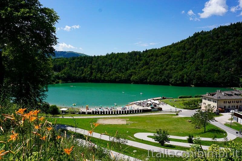 Lago di Lavarone- visto dall'alto