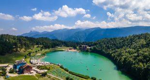Lago di Lavarone dall'alto