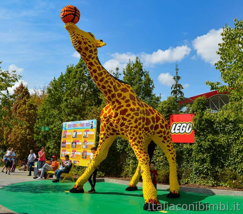 Legoland Germania- giraffa di Lego
