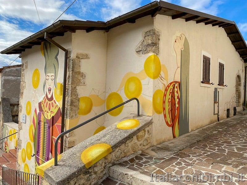 Aielli - Alto - dipinto di Borgo Universo