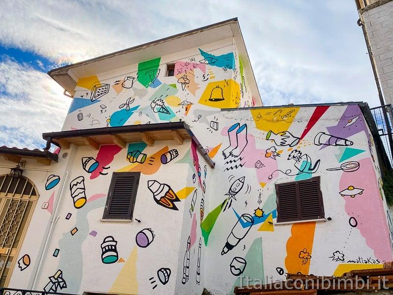 Aielli - casa murales
