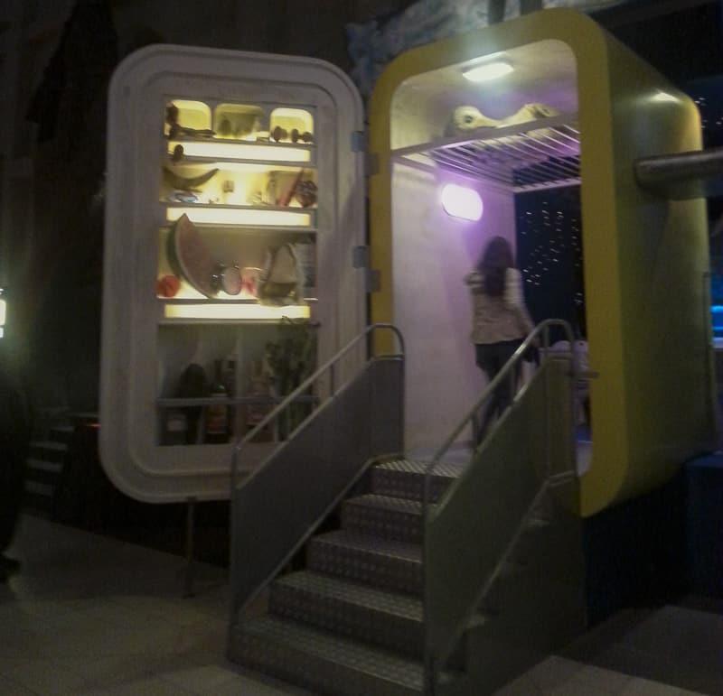 Torino - museo del cinema - frigorifero gigante