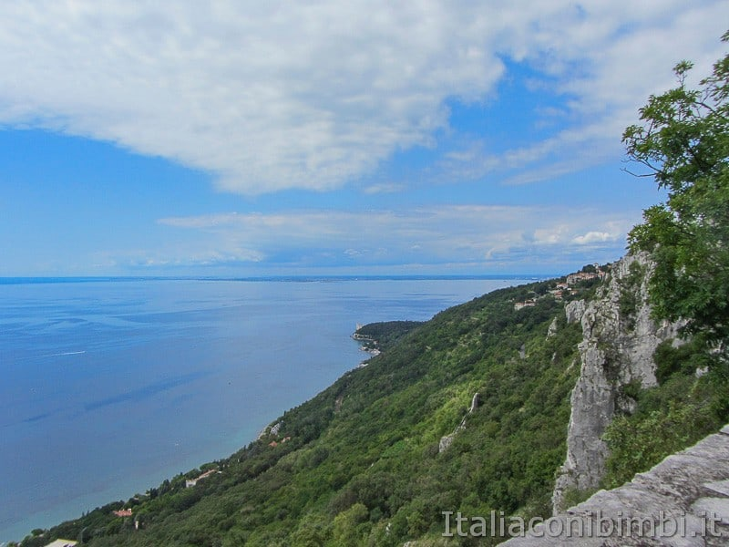 Trieste - panorama dalla strada napoleonica