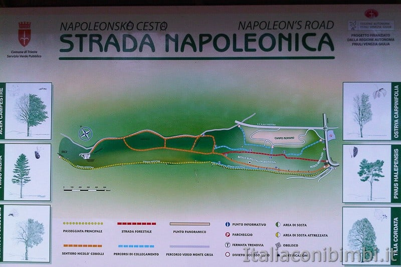 Trieste - strada napoleonica mappa
