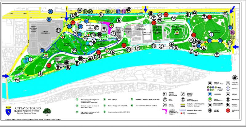 mappa del parco del Valentino